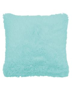 Duck Egg Blue Faux Fur Cushion Cover 18""