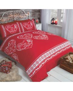 All I Want For Christmas Red Duvet Cover