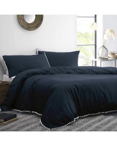 Appletree Navy Lynton Duvet Cover Set