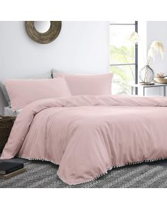 Appletree Pink Lynton Duvet Cover Set