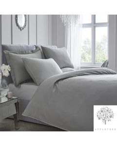 Appletree Plain Dye Slate Grey Duvet Cover Set