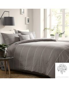 Appletree Slate Grey Salcombe Duvet Cover Set