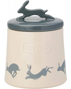 Artisan Hare Coffee Canister with Ceramic Lid