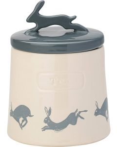Artisan Hare Tea Canister with Ceramic Lid