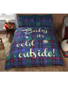 Baby It's Cold Outside Blue Duvet Cover