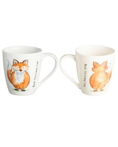Back To Front Fox Fine China Mug