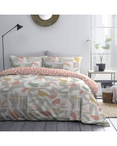 Brushstrokes Coral Pink Bedding