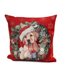 Peggy Wilkins Buddy The Golden Labrador Cushion