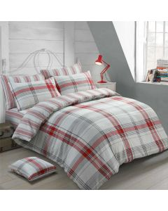 Burlington Check Red Duvet Cover
