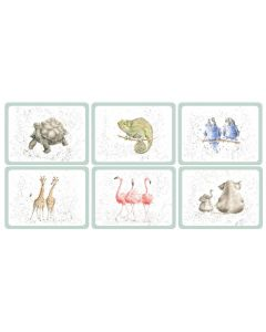 Wrendale Zoological Set of 6 Placemats