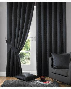 Madison Black Pencil Pleat Curtains Fully Lined
