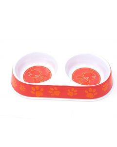 Melamine Double Cat Feeding Bowl