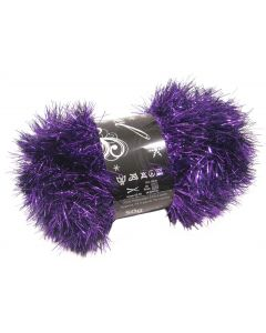 50g Ball of Tinsel Chunky Wool in Purple