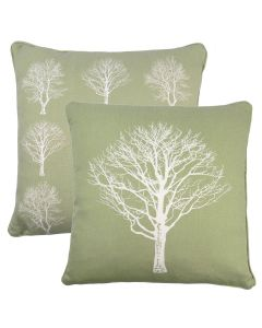 Woodland Trees Green Cushion