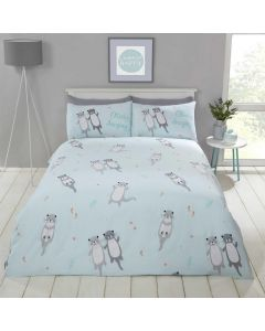 Otterly Amazing Aqua Duvet Cover Set