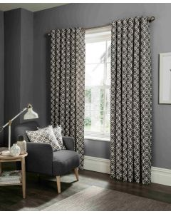 Studio G Castello Charcoal Ring Top Curtains
