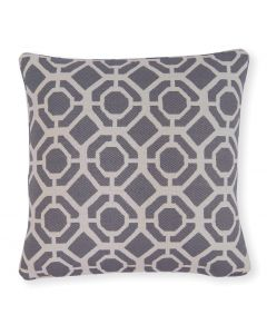 "Studio G Castello Charcoal 18"" Filled Cushion"