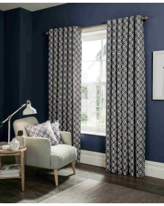 Studio G Castello Indigo Blue Ring Top Curtains