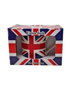 UNION JACK BOXED PORCELAIN FLAG MUG POT CUP