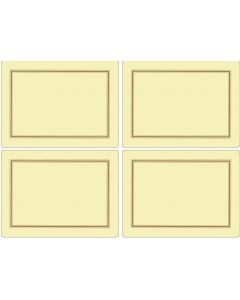 Set of 4 Rectangular Cream Placemats with Gold Border