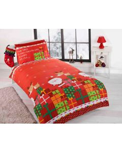 Dear Santa Multi Single Duvet Cover