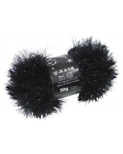 50g Ball of Tinsel Chunky Wool in Black