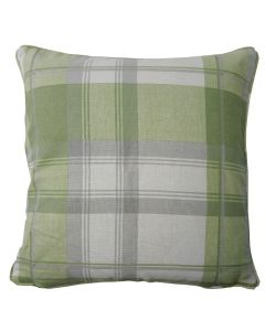 Balmoral Check Green Cotton Cushion