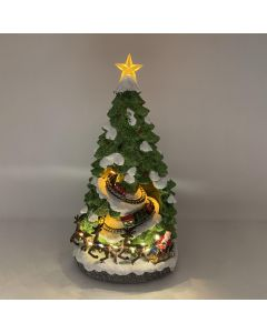 Large Battery Powered Musical L.E.D. Christmas Tree Scene with Rotating Train