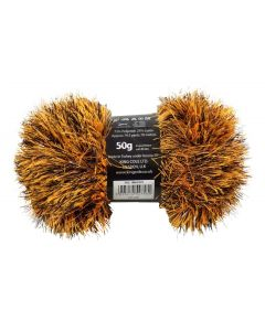 50g Ball of Tinsel Chunky Foxy Orange Wool