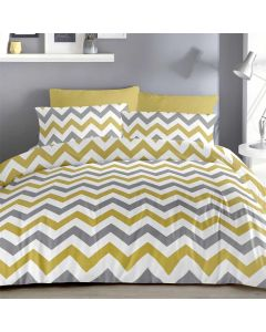 Chevron Ochre Bedding