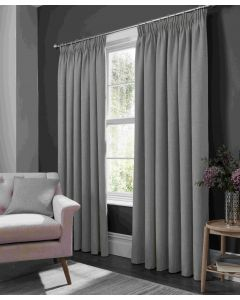 Studio G Elba Feather Grey Ring Top Curtains