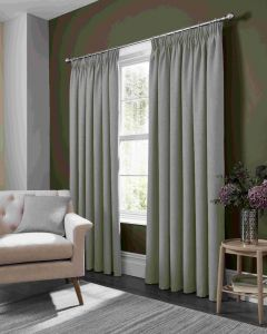 Studio G Elba Feather Grey pencil Pleat Curtains