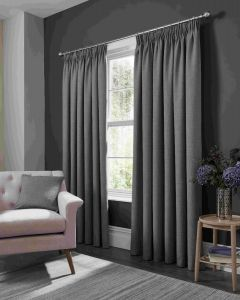 Studio G Elba Grey Pencil Pleat Curtains