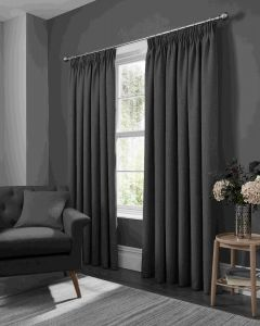 Studio G Elba Steel Pencil Pleat Curtains