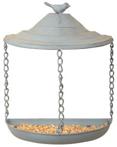 Esschert Design Metal Hanging Semi Circle Wall Bird Feeder