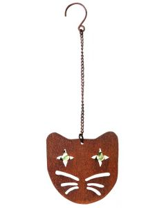 Esschert Design Cat Shaped Hanging Scarecrow