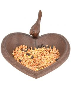 Esschert Design Heart Shaped Bird Bath
