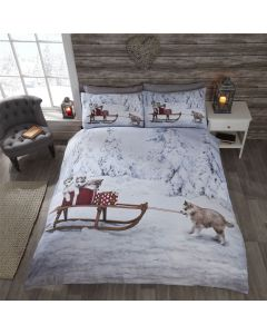Huskies Multi Duvet Cover