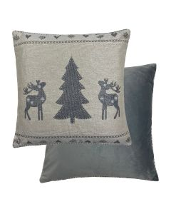 "Tree/Deer Cushion 18"" - 45cm"