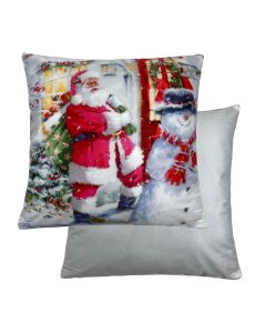 "Santa/House Cushion 18"" - 45cm"