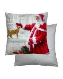 "Santa/Cat Cushion 18"" - 45cm"