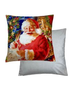 "Santa/List Cushion 18"" - 45cm"