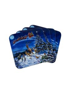 Macneil Magic Of Christmas Set of 4 Coasters