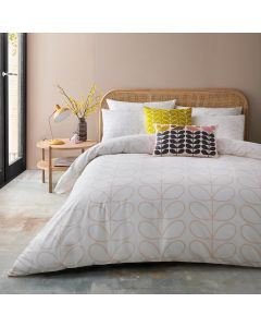 Orla Kiely Linear Stem Cloud Pink Bedding