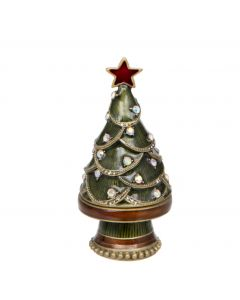 Noel Christmas Tree Trinket Box