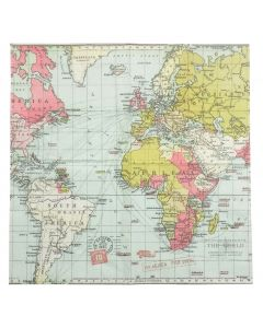 Pack of 20 Voyager World Map Paper Napkins