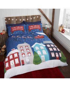 Midnight At Christmas Multi Duvet Cover