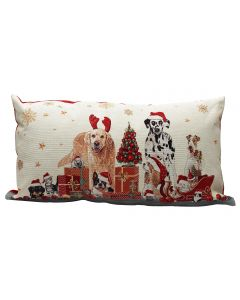 Peggy Wilkins Pets Christmas Filled Cushion