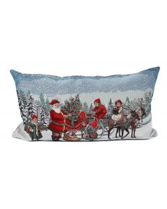 Peggy Wilkins Reindeer Ride Filled Cushion