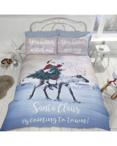 Santa's Coming To Town Multi Duvet Cover